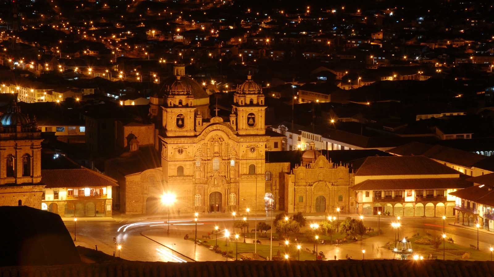 Plaza de Armas at Night (Cusco, Peru)