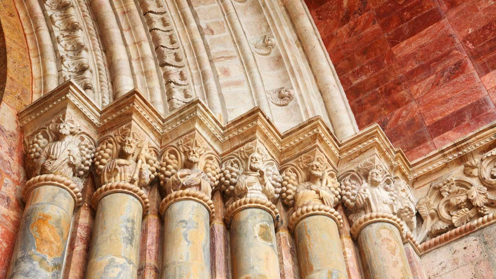 Architectural elements of the Cathedral in Cuenca, Ecuador