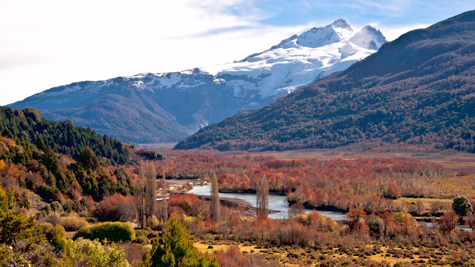 Tronador volcano, border between Argentina and Chile, Southern V