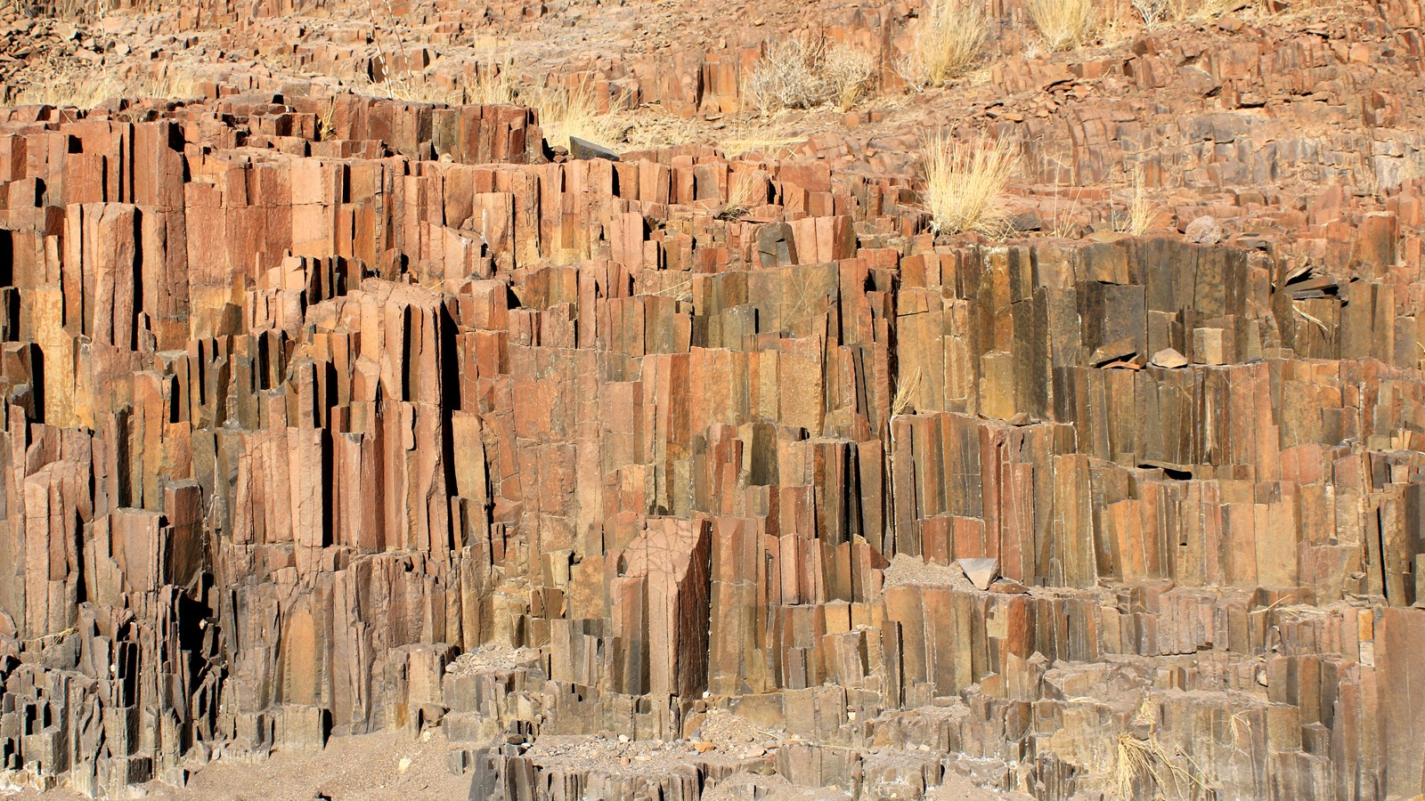 """The Organ Pipes"", a geological formation of volcanic rocks in t"