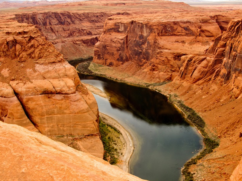Beautiful landscape at the Grand Canyon with the Colorado River