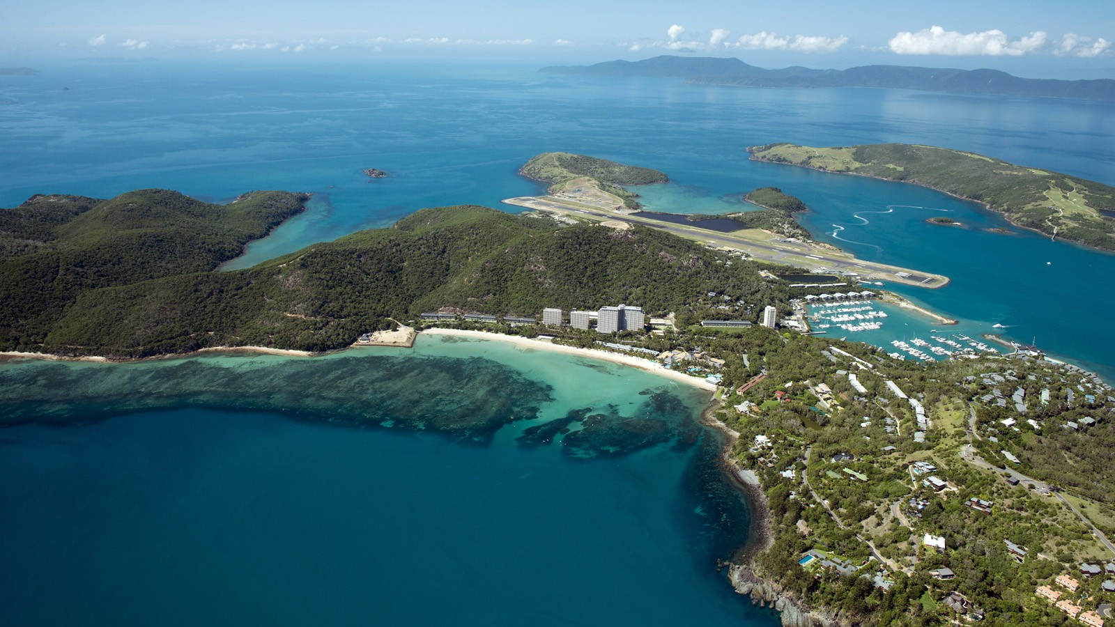 Hamilton Island aerial view Whitsunday Islands
