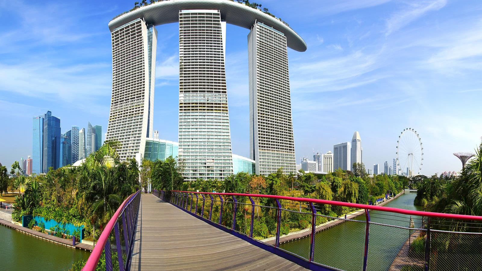 Panoramic view of the Marina Bay Sands, Singapore