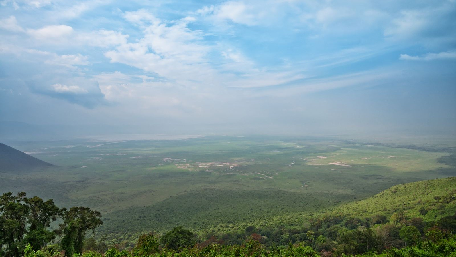 Scenic view from the rim of Ngorongoro crater, Tanzania