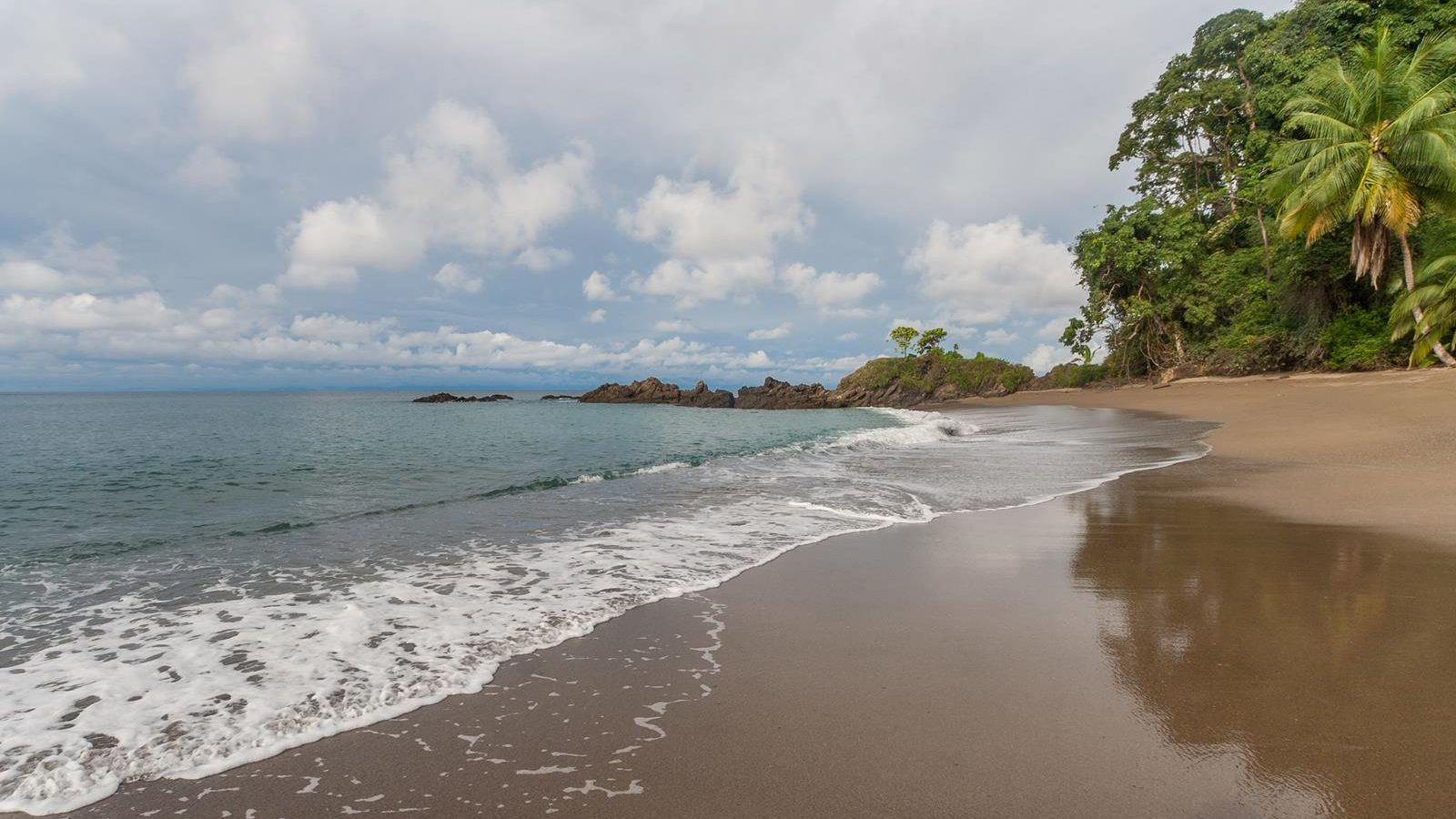 Beach of Manuel Antonio National Park in Costa Rica